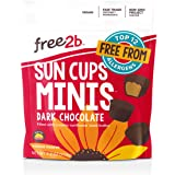Free2b Foods Dark Chocolate Sun Cups Minis Gluten-Free, Dairy-Free, Nut-Free and Soy-Free - 4.2 Oz. (Pack of 6)