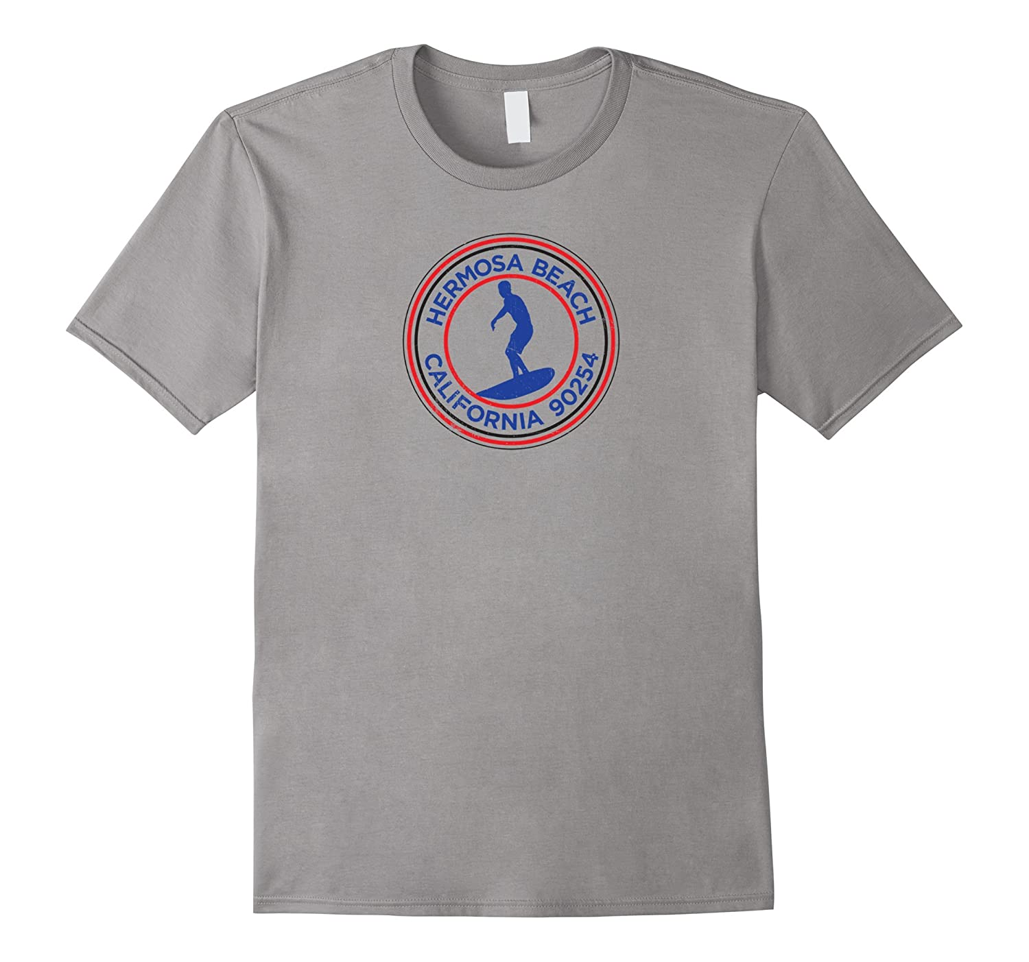 HERMOSA BEACH California Souvenir Surf T-Shirt-TJ
