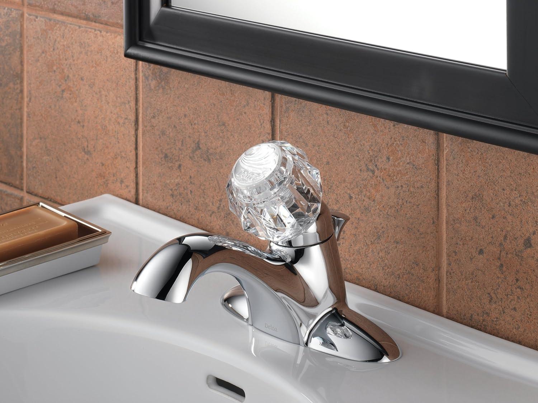 Delta 522-MPU-DST Classic Single Handle Centerset Bathroom Faucet ...