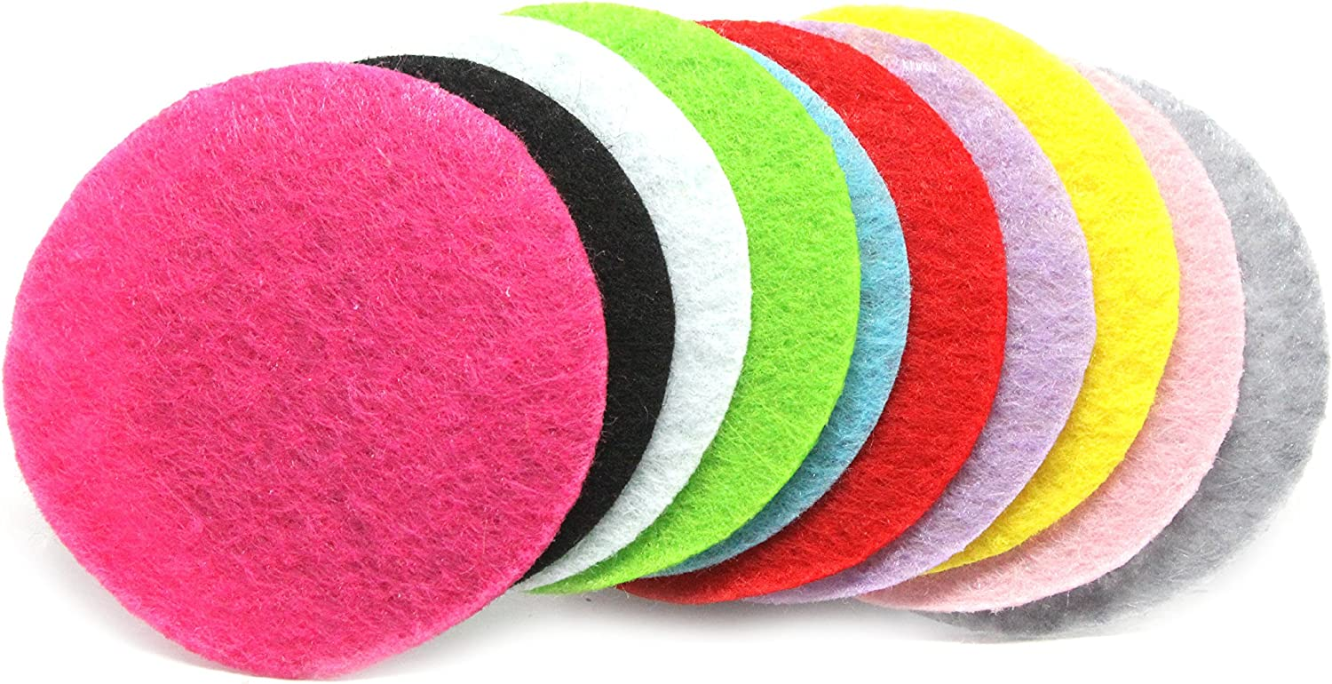 100 Pieces JLIKA Felt Circles (1.5 Inches) Assorted Colors Non-Adhesive Round Felt