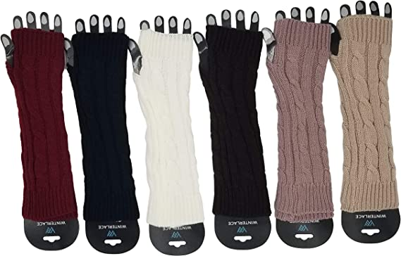 Arm Warmers, 6 Pairs for Women, Cable Knit Warm Winter Sleeve Fingerless  Gloves, Premium (Assorted B) (Assorted B) at Amazon Women's Clothing store