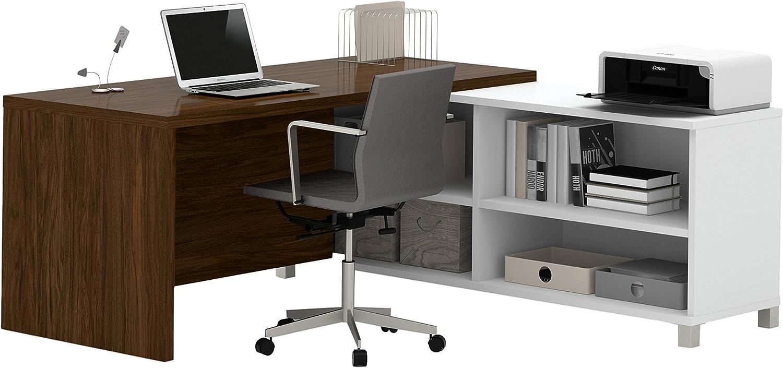 White//Bark Grey BESTAR Pro-Linea L-Desk