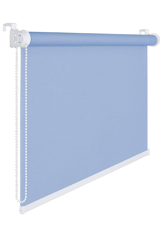 Store enrouleur tamisant à 50% Bleu ciel Pare-vue 80cm largeur 175cm Store enrouleur. Cordon à fenêtre Store enrouleur serrage 80x 175