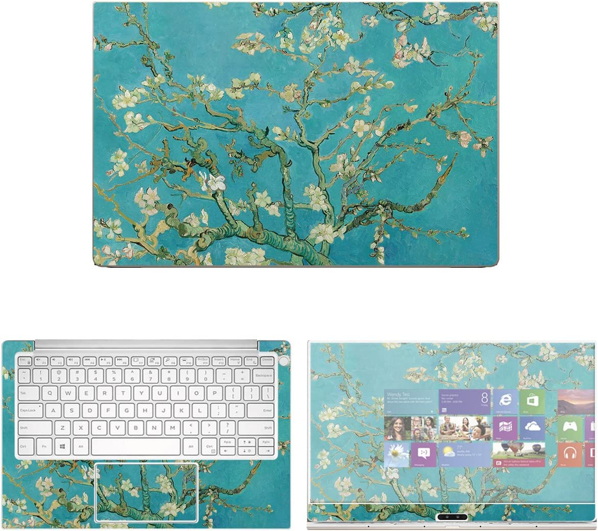 decalrus - Protective Decal Floral Skin Sticker for Dell XPS 13 9370 (13