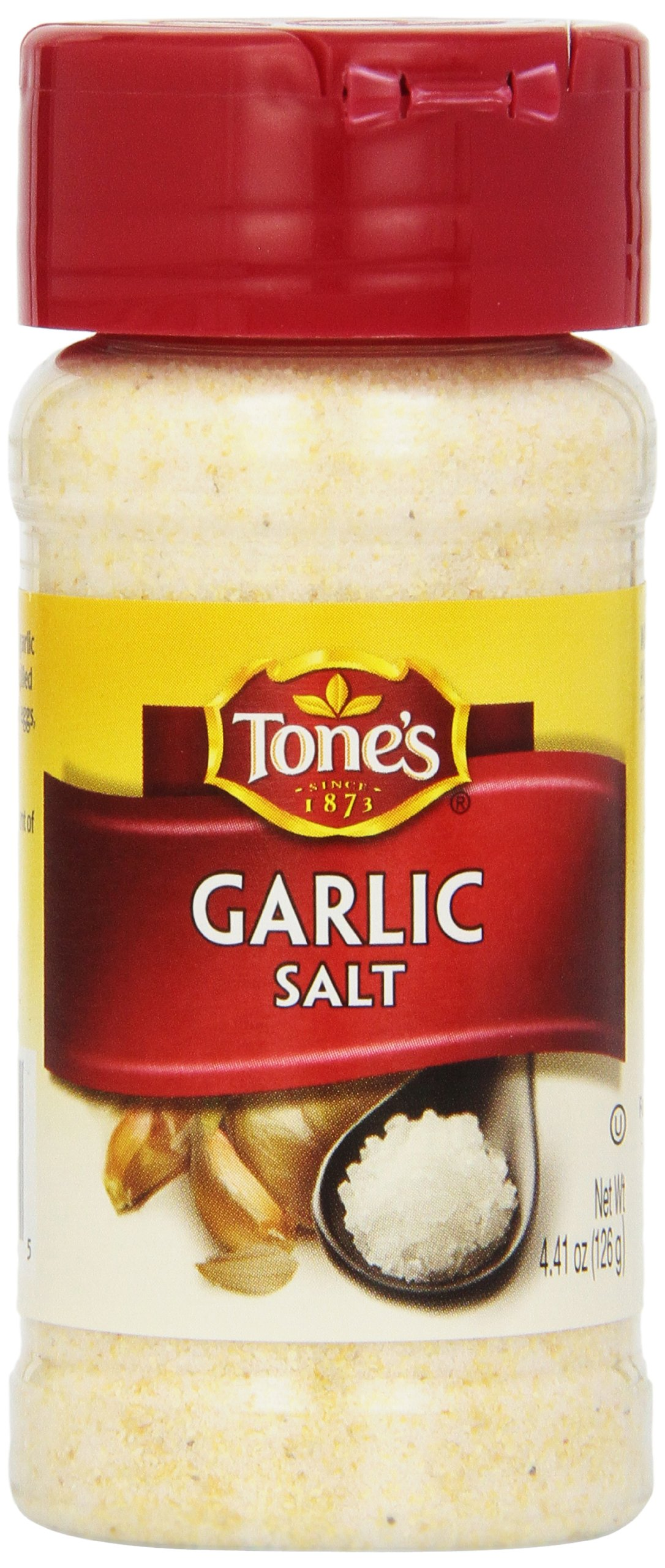 Tone Garlic Salt, 4.41 Ounce (Pack of 6)