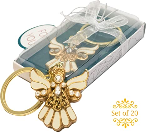 Handmade White Wedding Christening Guardian Angel Charms Pack Of 20