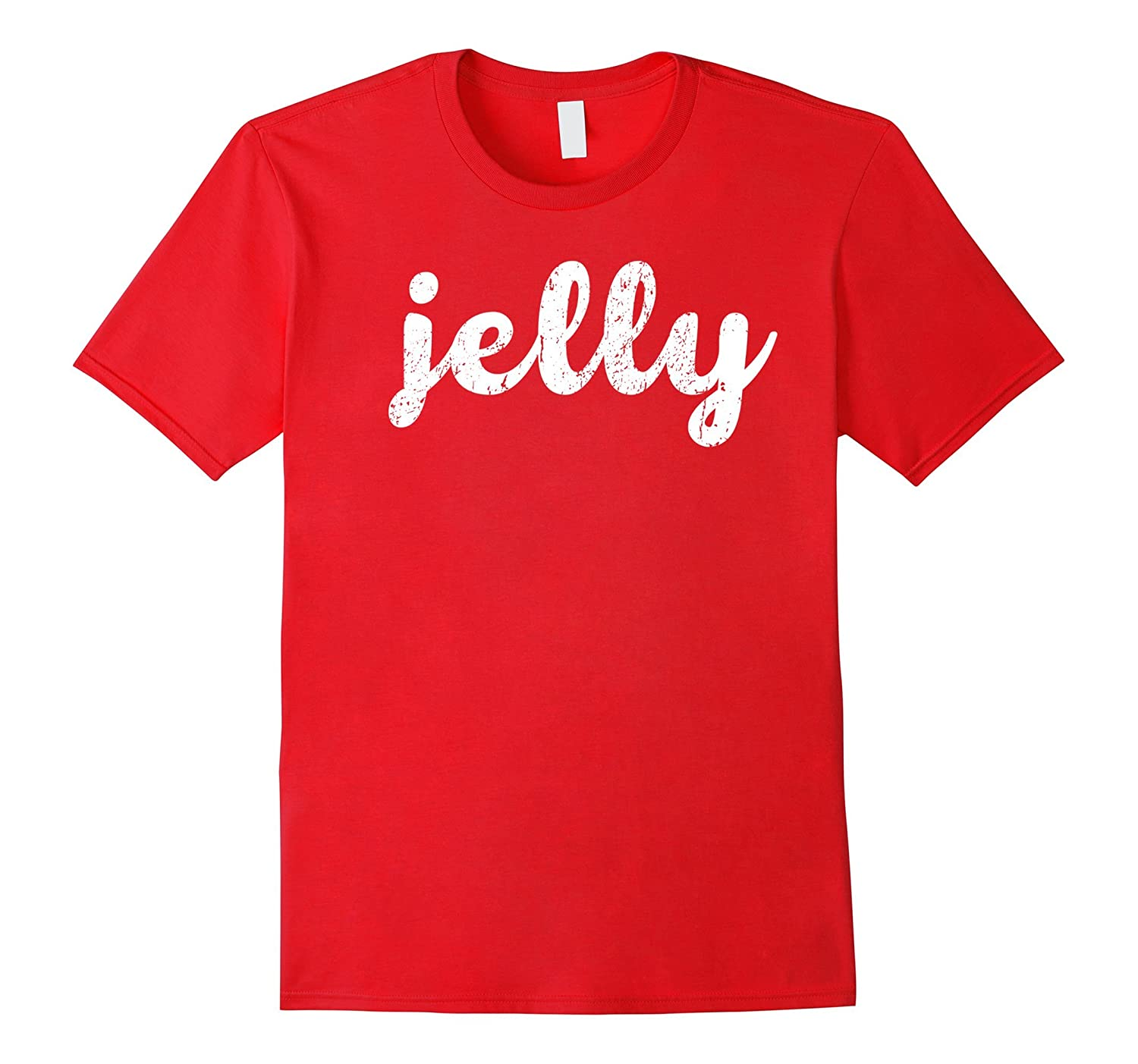 Jelly & Peanut Butter Funny Halloween Couple Costume T-Shirt-ANZ