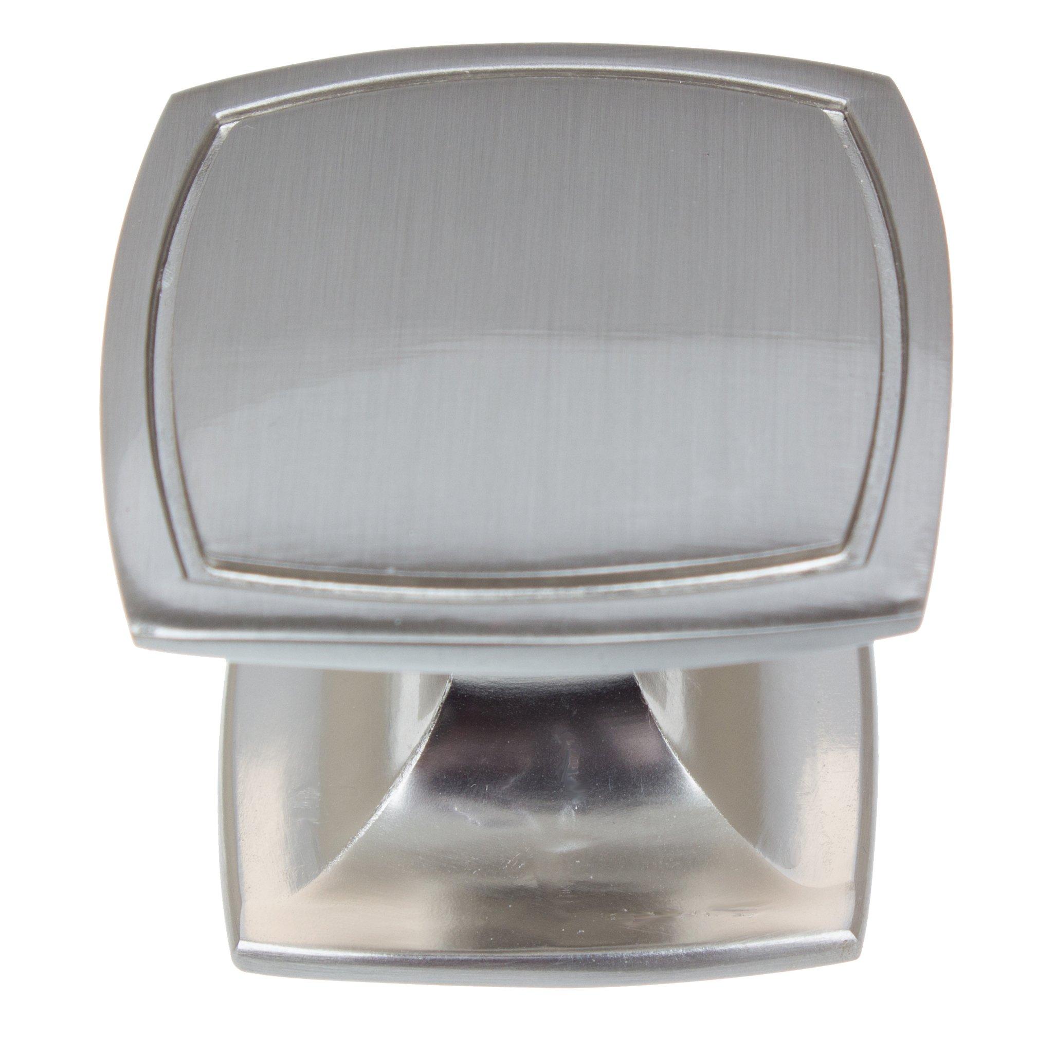GlideRite Hardware 901412-SN-50 Square Cabinet Knobs, 50 Pack, 1.5'', Satin Nickel