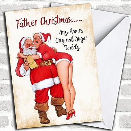 Amazon funny sugar daddy personalized christmas card office funny sugar daddy personalized christmas card m4hsunfo