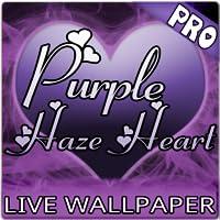 Purple Haze Hearts Live Wallpaper