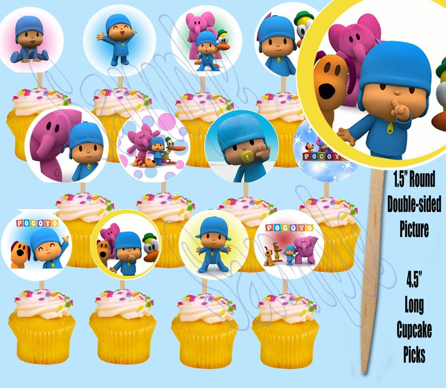 Amazon.com: Pocoyo doble cara decoración para tarta para ...
