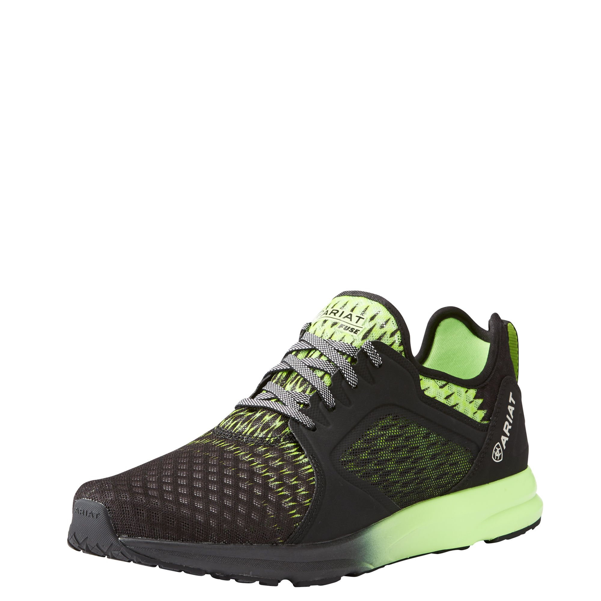 Ariat Men's Fuse Athletic Shoe, Lime Black Ombre Mesh, 13 D US