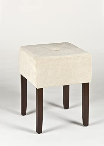 Hillsdale Furniture Bellamy Backless Vanity Stool, Beige