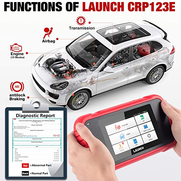 CRP123E checks and clears trouble codes for all the main systems in your car .