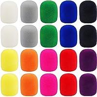 20 Pack Thick Handheld Stage Microphone Windscreen Foam Cover Karaoke DJ (10 Color)