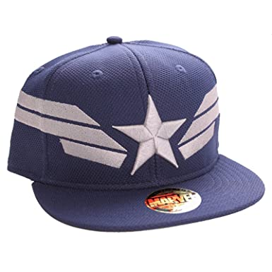 captain america baseball hat civil war cap shield marvel star stripes official navy one size