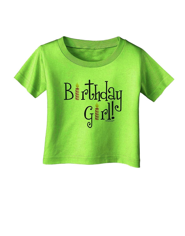 TooLoud Birthday Girl Birthday Candles Infant T-Shirt