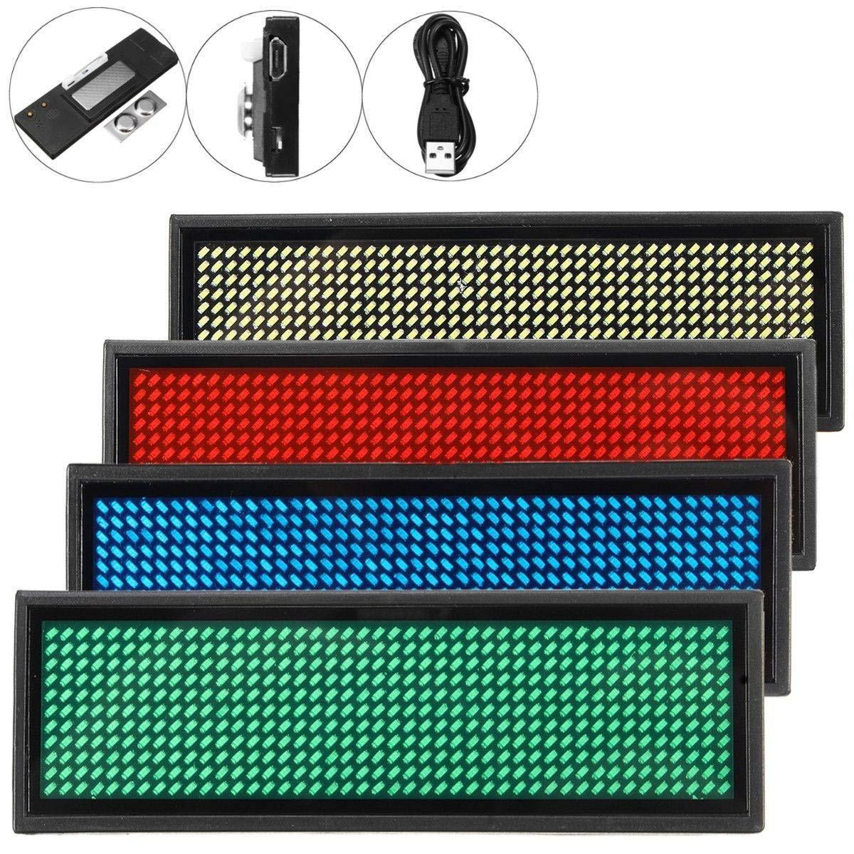 digital wiederaufladbar wei/ß programmierbar Candora LED-Mini-Namensschild
