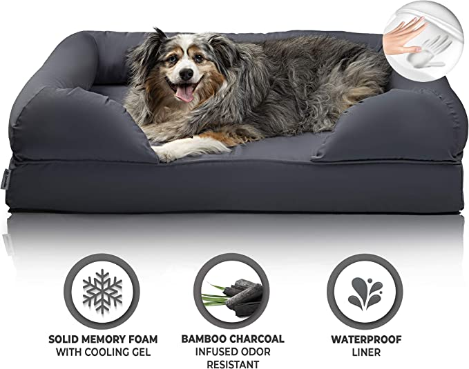 Memory Foam Dog Bed-Orthopaedic Eco Mattres-Pressure-Relief SleepTherapeutic Mat