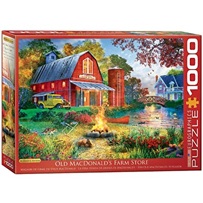 EuroGraphics Campfire by The Barn by Dominic Davison 1000-Piece Puzzle: Toys & Games