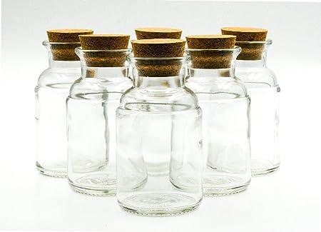59eecd9fdf8 nr 6 glass bottles Flacone Menta 250 ml flint glass cork stopper n ...