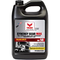 Triax Synergy Gear SAE 50 Full Synthetic Manual Transmission Oil - 500,000 Mile Rating for Eaton