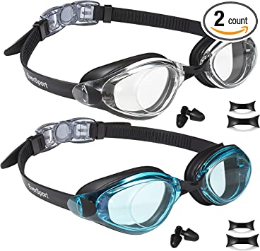 Crystal Clear S... EverSport Kids Swim Goggles Pack of 2 Kids Swimming Goggles