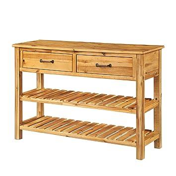 Amazon.com: Flieks - Aparador de madera con cajones para ...