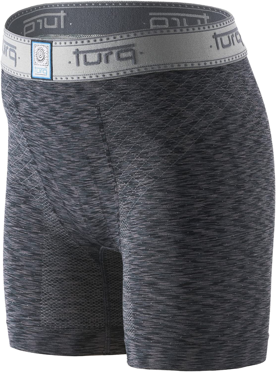 Turq Performance Boys Underwear | Boys Boxer Briefs for Active Lifestyles and Sports (Youth Small (23-24), Storm Black)