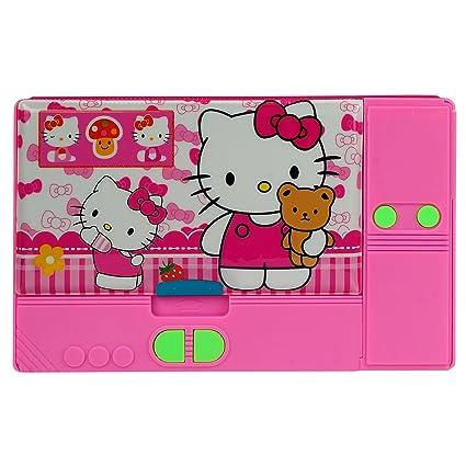 Asera Pink Hello Kitty Jumbo Pencil Box For Girls