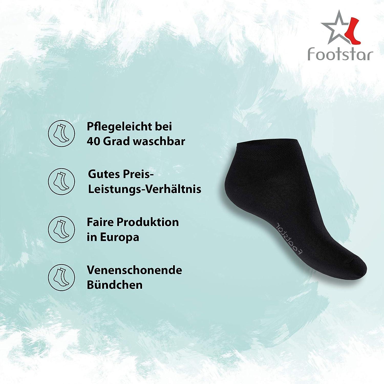 Footstar Lot de 8 paires de socquettes de sport avec effet n/éon qualit/é celodoro bon maintien gr/âce au bord-c/ôte en /élasthanne confortable unisexe
