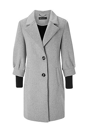 Expresso Jolina Damen Mantel Wolle Grau Winter Knöpfe Amazonde