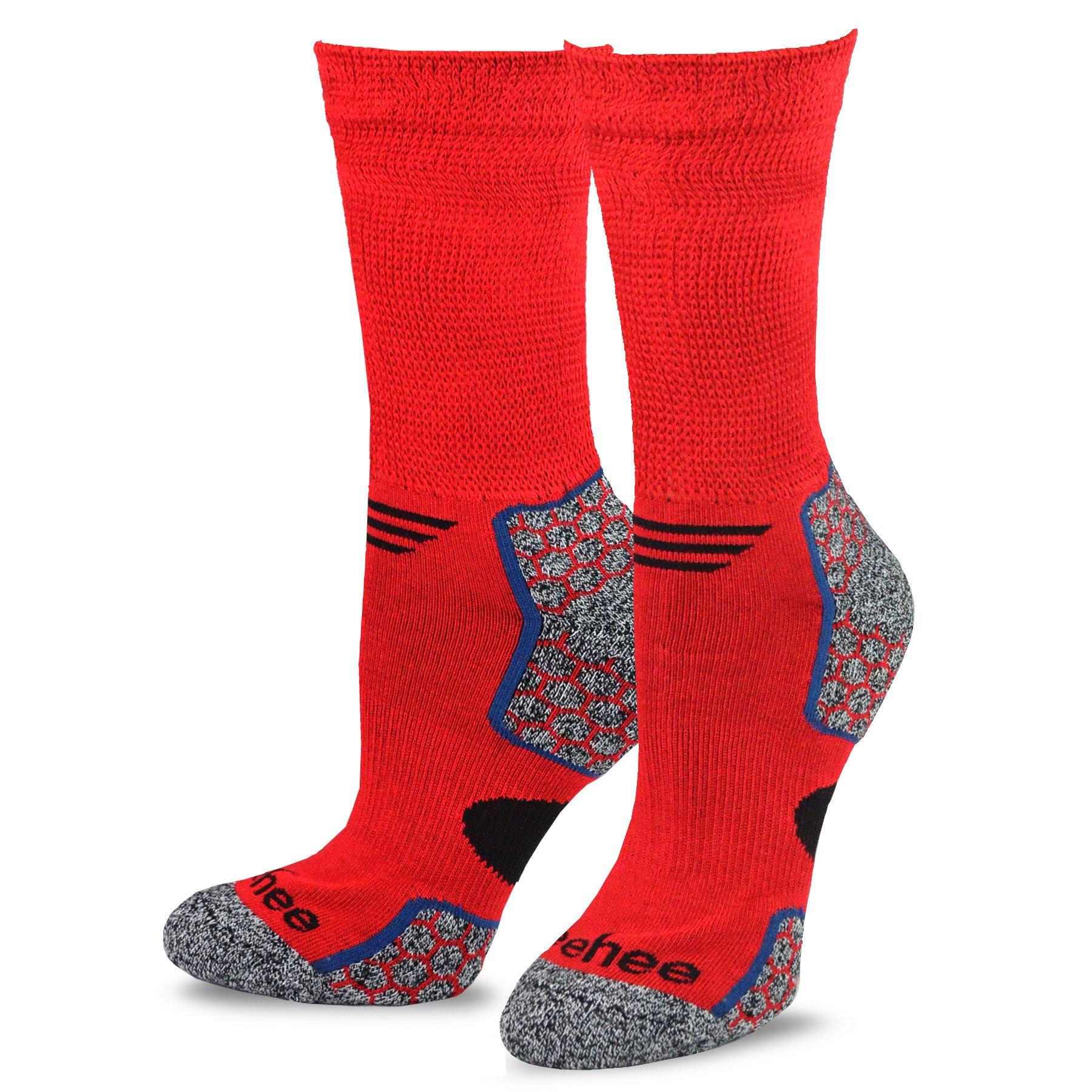 Teehee Viscose From Bamboo Diabetic Crew Socks 3 Pack