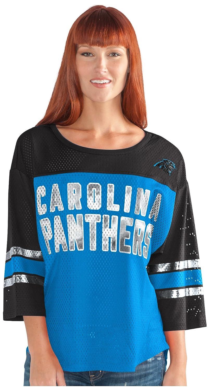 最初チームメッシュトップ B073ZTKMQQ Small|ブルー/ブラック|Carolina Panthers ブルー/ブラック Small