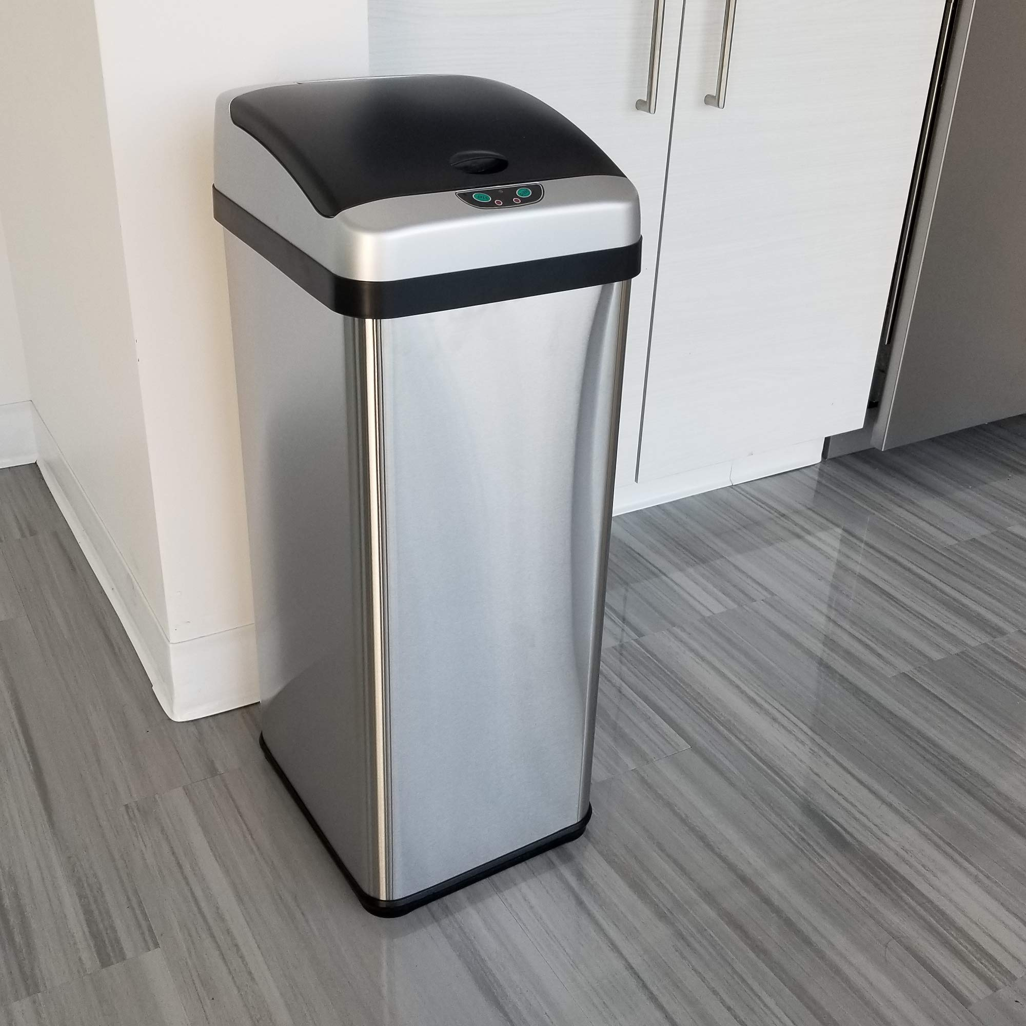 iTouchless RX 13 Gallon Stainless Steel Touchless Trash Can with AC Adapter Platinum Limited Edition, Odor Control System Kitchen Bin, by iTouchless (Image #4)