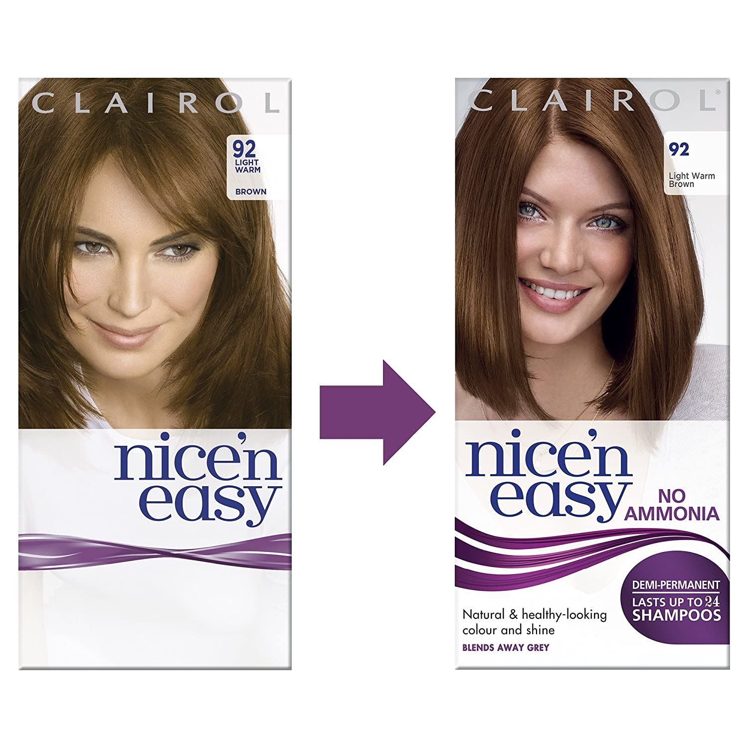 Excellent natural demi permanent hair color creative concepts clairol nice n easy semi permanent hair dye no ammonia 92 light image source amazon geenschuldenfo Gallery