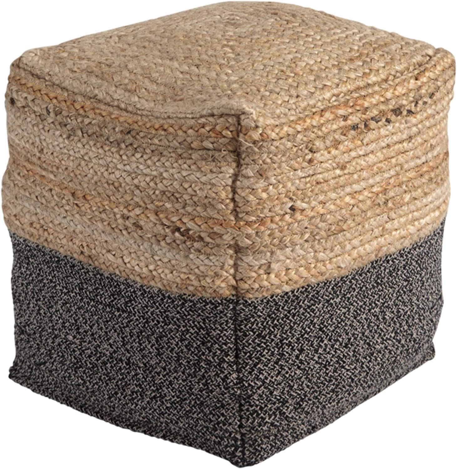 Ashley Furniture Signature Design - Sweed Valley Pouf - Comfortable Pouf & Ottoman - Casual - Natural/Black