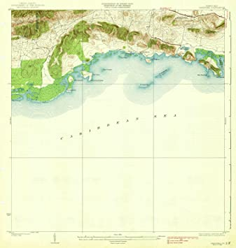 graphic relating to Printable Maps of Puerto Rico named : Puerto Rico Maps 1938 Parguera, PR USGS