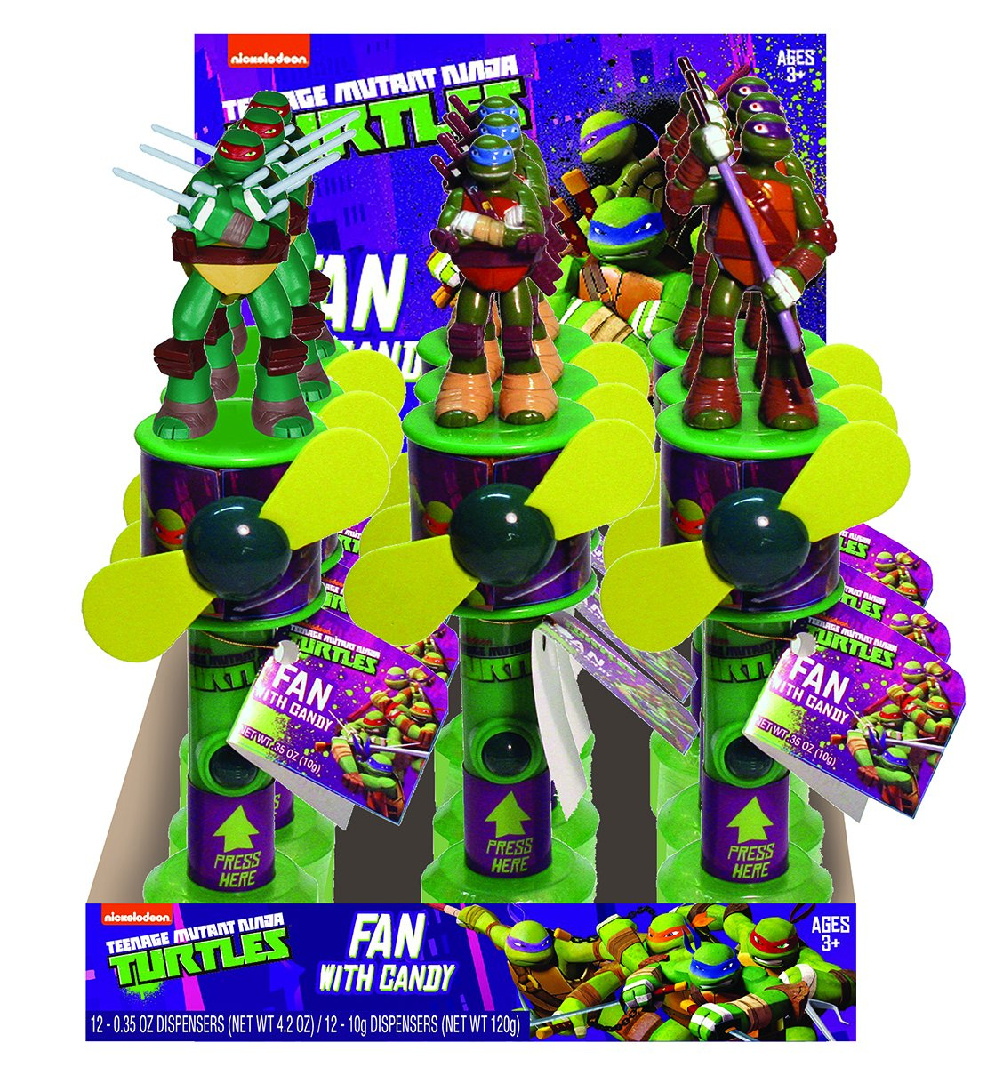 Amazon.com : Nickelodeon Tmnt Candy Fan, 0.35 Ounce ...
