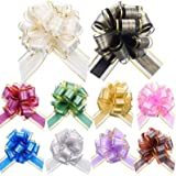 20 Pieces Pull Bows for Present Baskets, Present Wrapping Bows for Present Wedding Baskets Floral Decor Christmas Decor, 6 In