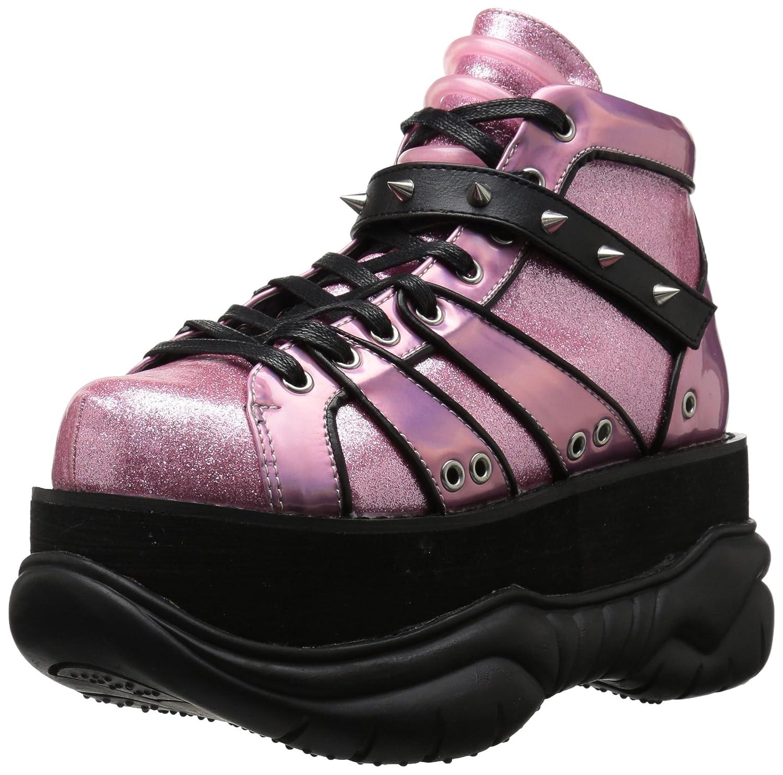 Demonia Neptune-100 Ankle Boot B071L1T9F8 11 M US|Pink Glitter Silver/Vegan Leather