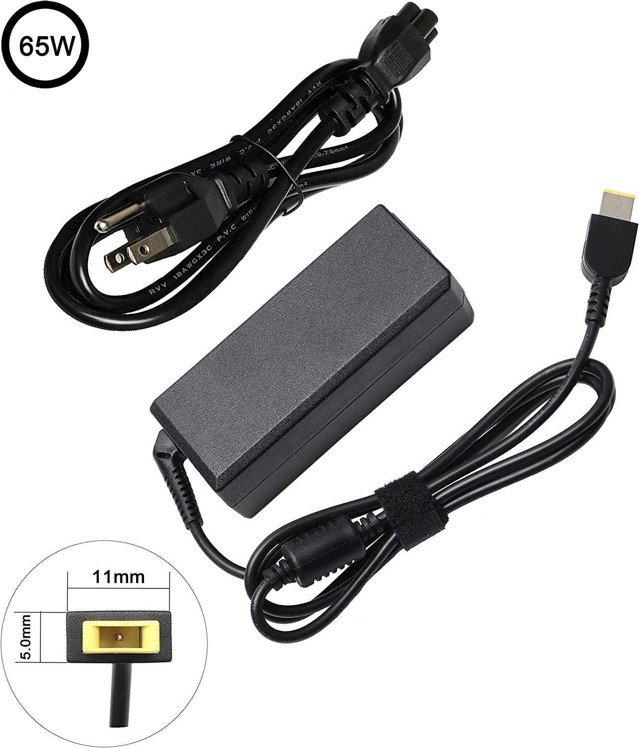 65W AC Adapter Charger for Lenovo ADLX45NCC3A ADLX45NLC3A ADLX45NDC3A ADLX65NCC3A ADLX65NLC3A 0B47481 ADLX45NCC2A ADLX65NDC3A 0B47030 ADLX45NDC2A ADLX65NCC2A ADLX65NLC2A ADLX65SDC2A ADLX45NLC2A
