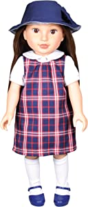 "Kindred Hearts Dolls Paige Brown Hair Brown Eyes PVC Girl Doll, Brunette, 18"" (Amazon Exclusive)"