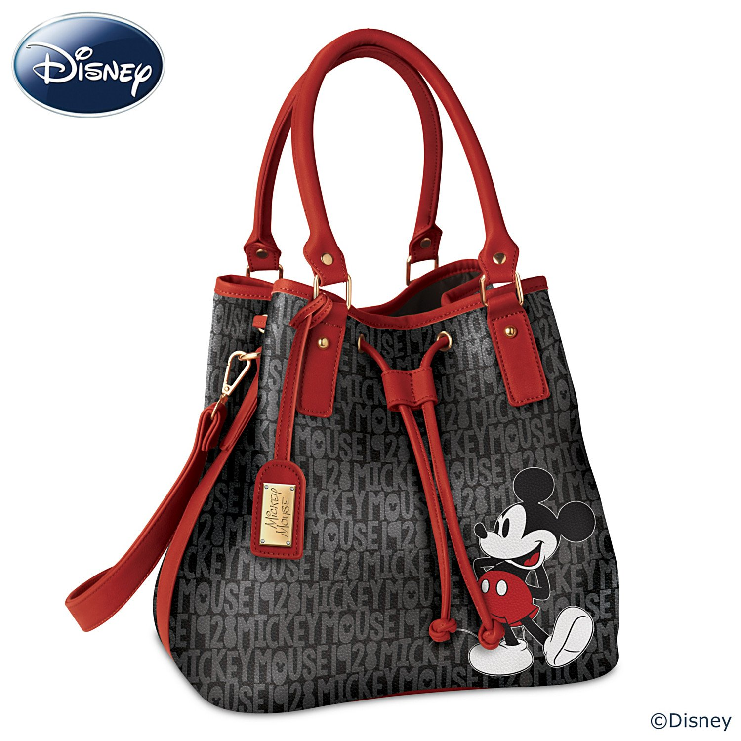 Amazon.com  Disney Forever Mickey Mouse Women s Handbag With Luggage Tag by The  Bradford Exchange  Shoes d5aa6d74f775d