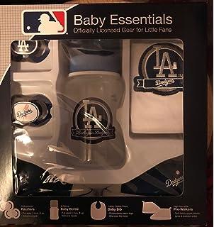 Amazon.com: Botella y chupete, conjunto de regalo MLB Baby ...