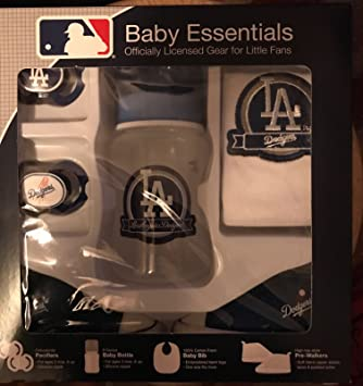 Amazon.com: Los Angeles Dodgers 5 piezas Baby Set de regalo ...