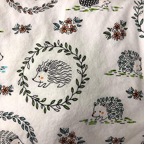 Amazon Com Hedgehog Flannel Crib Sheet Handmade