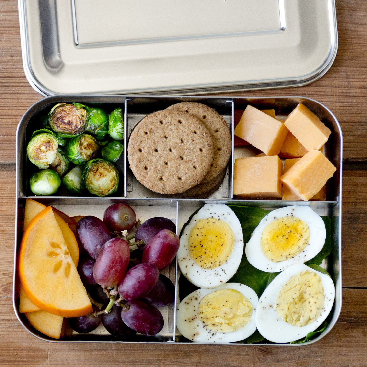 photo of metal lunchbox