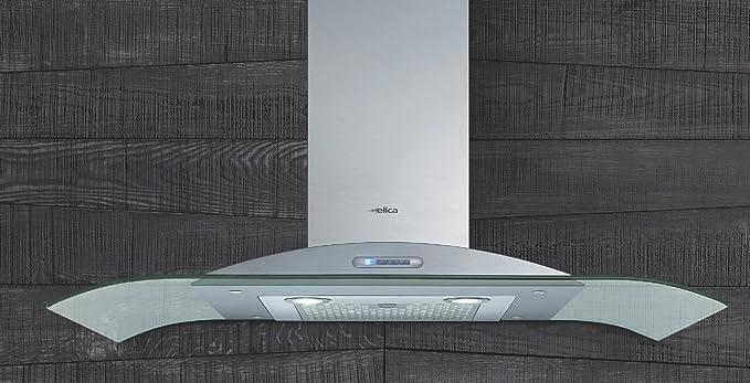 Elica Artica Soft Light IX/A/90 pared Campana isla Campana 90 cm acero inoxidable cristal (50816337): Amazon.es: Grandes electrodomésticos