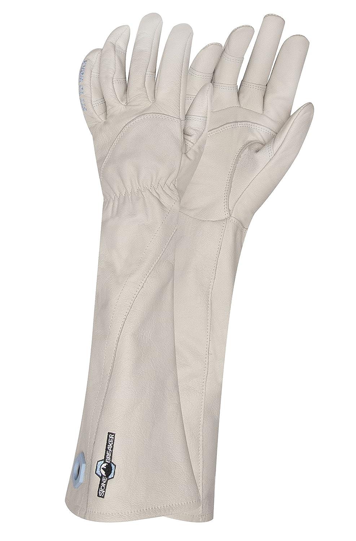StoneBreaker Gloves Rose Gauntlet Women's Gardening Glove, Medium, Bone